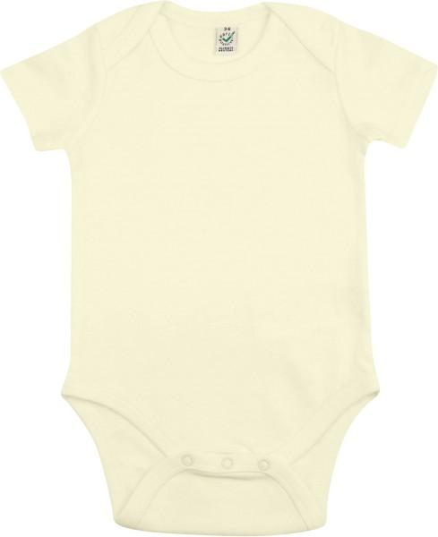 Baby kurzarmbody ecru (100% Biobaumwolle)