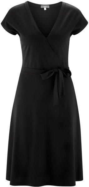 Kleid aus Bio-Baumwolle und Viskose - black