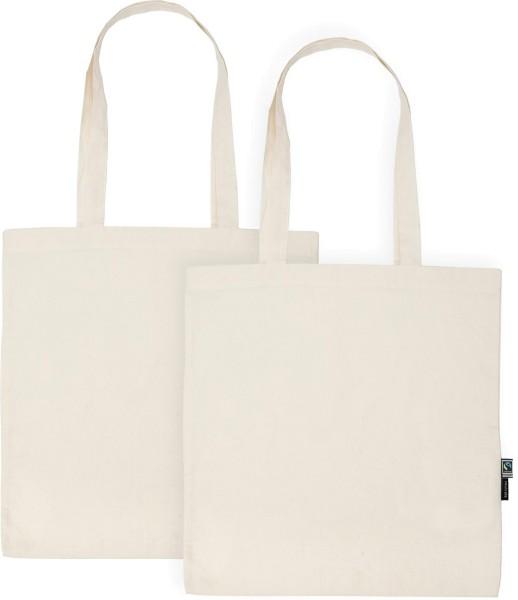 Doppelpack - Organic Shopping Bag lange Henkel Fairtrade - natur