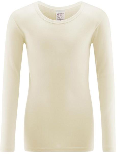 Kinder Langarm-Unterhemd aus Bio-Baumwolle - natur - Bild 1