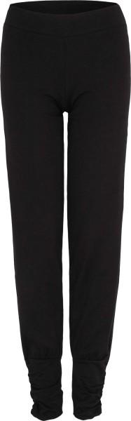 Yogahose aus Bio-Baumwolle - schwarz