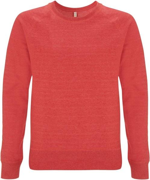 Recycled Unisex Sweatshirt Baumwolle und Polyester - melange red