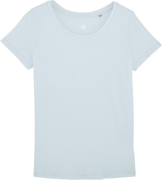 Jerseyshirt aus Bio-Baumwolle - baby blue