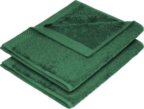 Flauschiges Handtuch aus Bio-Baumwolle 2er-Pack - 30x50 forest green