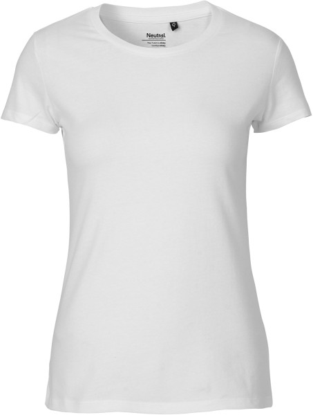 Fitted T-Shirt aus Fairtrade Bio-Baumwolle - white