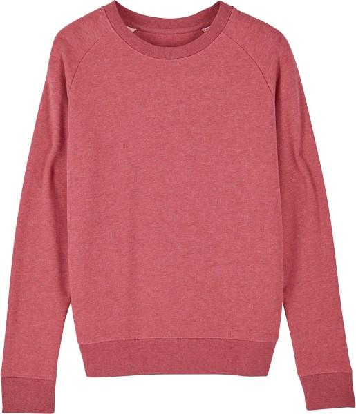 Sweatshirt aus Bio-Baumwolle - heather cranberry