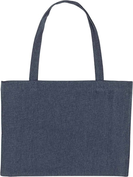 Shopping Bag aus recycelter Baumwolle - midnight blue