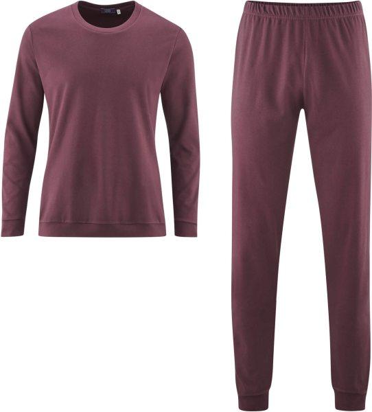 Schlafanzug aus Bio-Baumwolle - burgundy