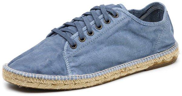 Basket Yute Enzimatico - Schnürschuhe aus Bio-Baumwolle celeste - Bild 1