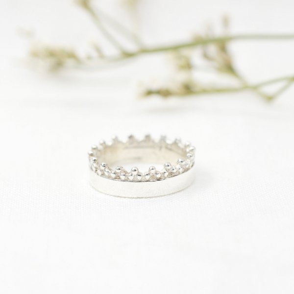 Filigree Ring aus recyceltem Silber