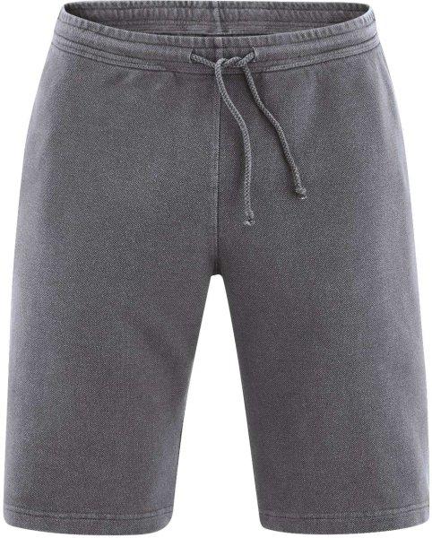 Jersey-Shorts - aus Hanf und Bio-Baumwolle - anthrazit - Bild 1