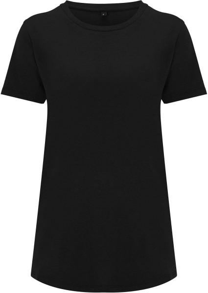 Ecovero T-Shirt aus Viskose und Bio-Baumwolle - black