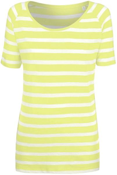 Ringelshirt aus Biobaumwolle weiss gelb