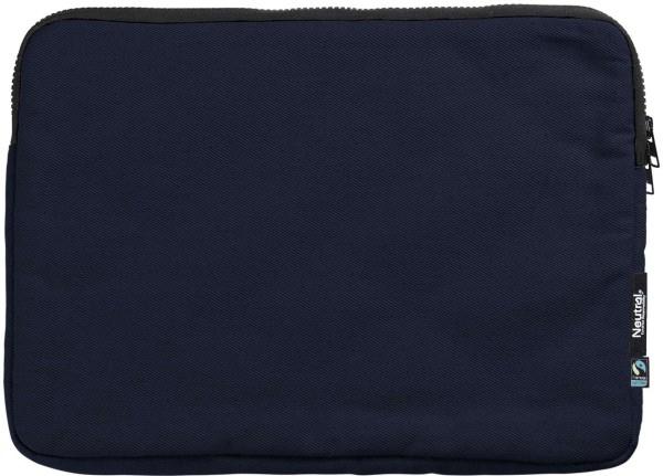 Neutral -  Notebook-Tasche Biobaumwolle navy