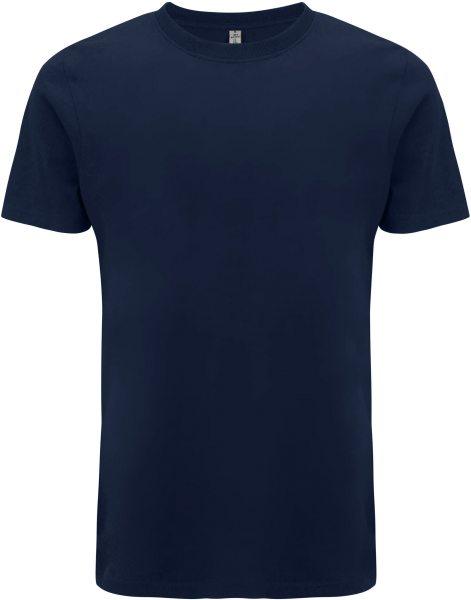 Recycled T-Shirt aus Baumwolle und Polyester - navy