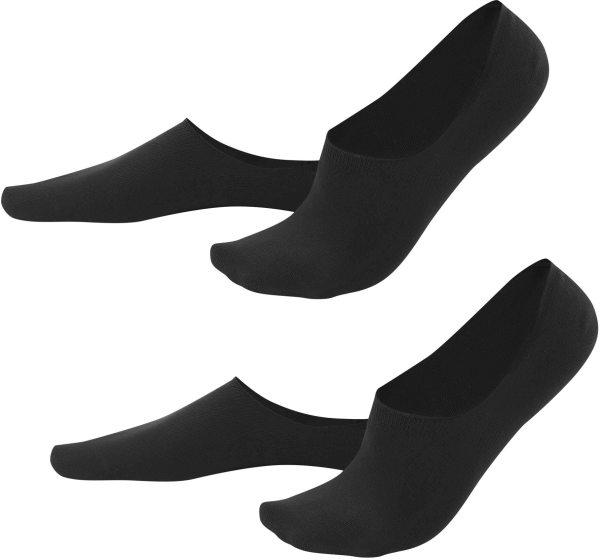 Herren Füßlinge aus Bio-Baumwolle - 2er-Pack - black