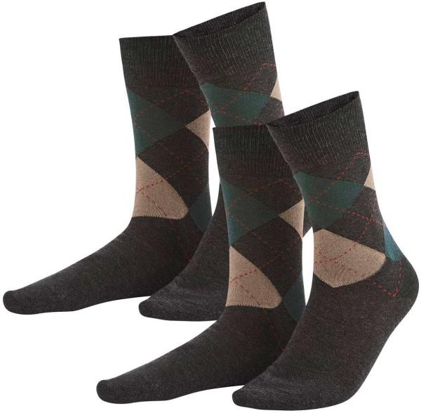 Herren Socken aus Bio-Baumwolle – 2er-Pack – graphite melange