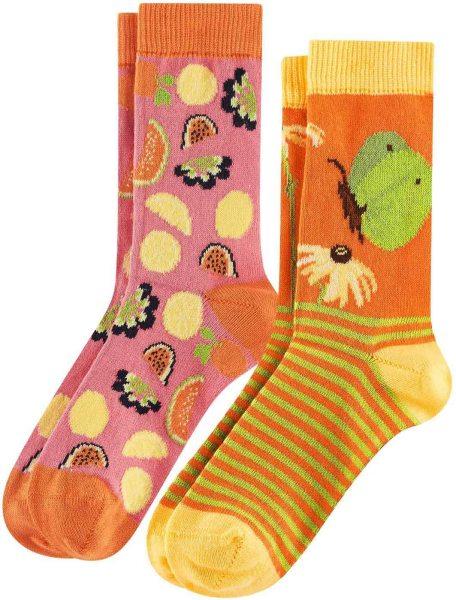 Kinder Socken aus Bio-Baumwolle - 2er-Pack - butterfly