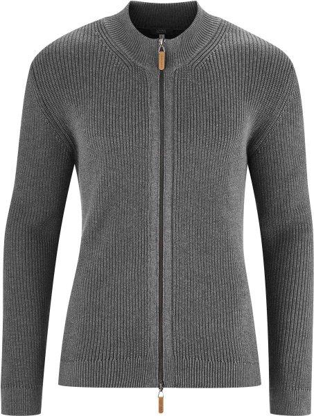 Strickjacke aus Bio-Baumwolle - grey melange