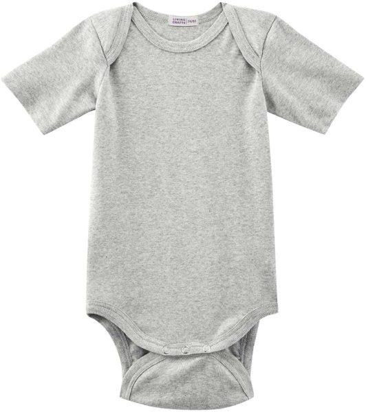 Baby Kurzarm-Body aus Bio-Baumwolle - grey melange