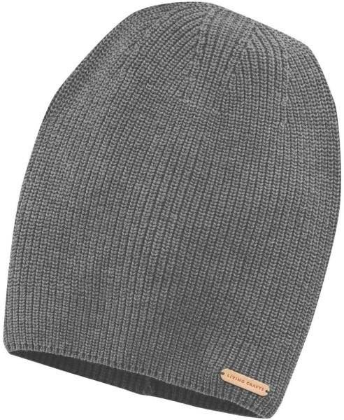 Strickmütze aus Bio-Baumwolle - grey melange
