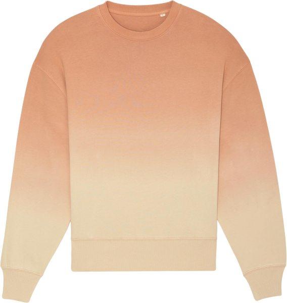 Oversized Unisex Sweatshirt aus Bio-Baumwolle - dip dye mushroom/barley