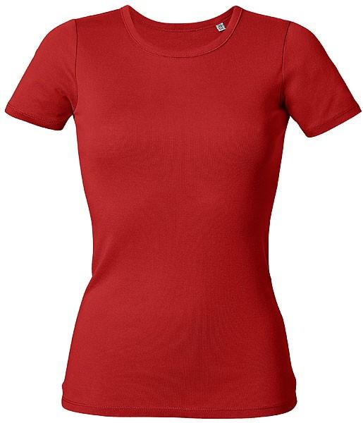 Recalls - Rippstrick-T-Shirt aus Bio-Baumwolle - rot - Bild 1