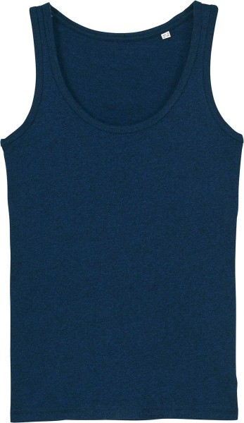 Tank-Top aus Bio-Baumwolle - black heather blue