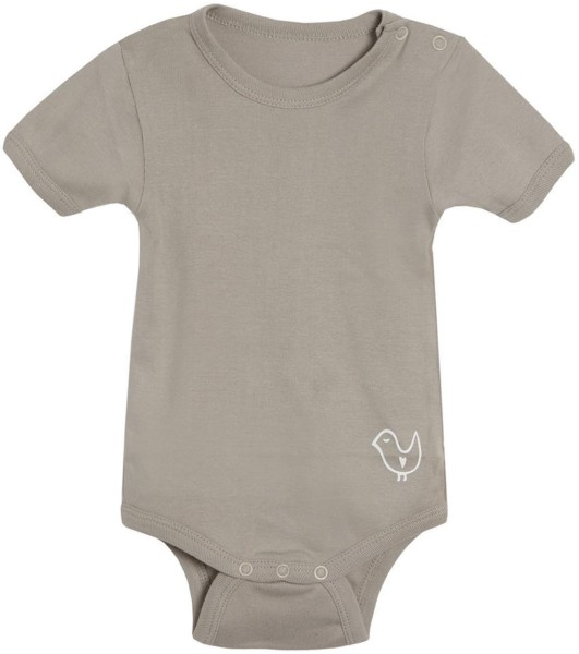 Baby Body kurze Ärmel Biobaumwolle taupe 8306