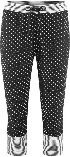 3/4 Ringel Schlaf-Hose aus Bio-Baumwolle – black/dots