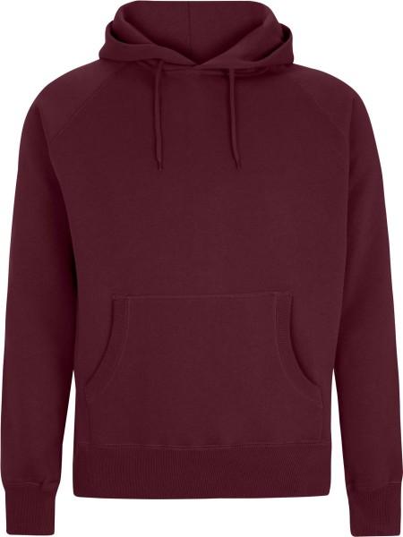 Pullover Hooded Sweatshirt - claret red