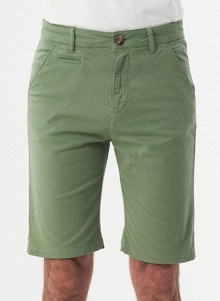 Slim Fit Shorts aus Bio-Baumwolle - fern green