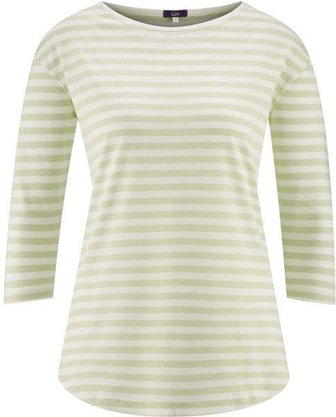 Schlaf-Shirt aus Biobaumwolle - milky green/white