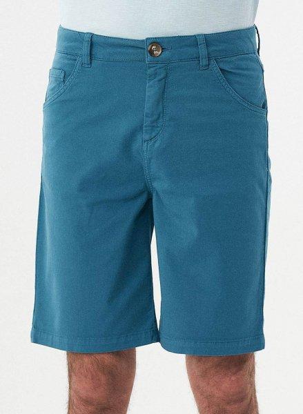 Regular Fit Shorts aus Bio-Baumwolle - petrol blue