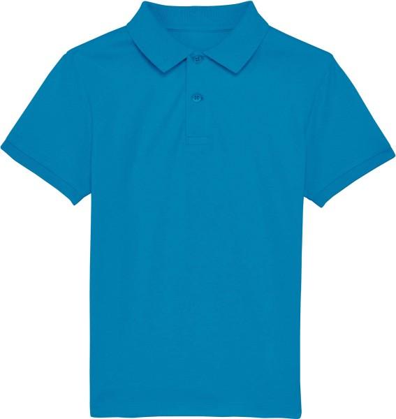 Kinder Polo-Shirt aus Bio-Baumwolle - azur