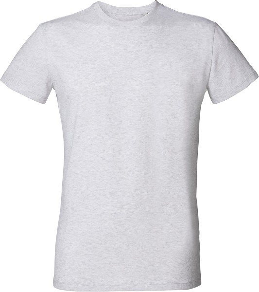 Slim-Fit T-Shirt aus Bio-Baumwolle - heather ash