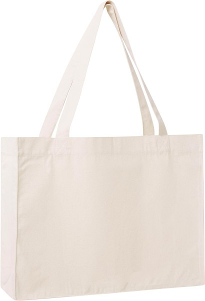 Shopping Bag aus recycelter Baumwolle - natural