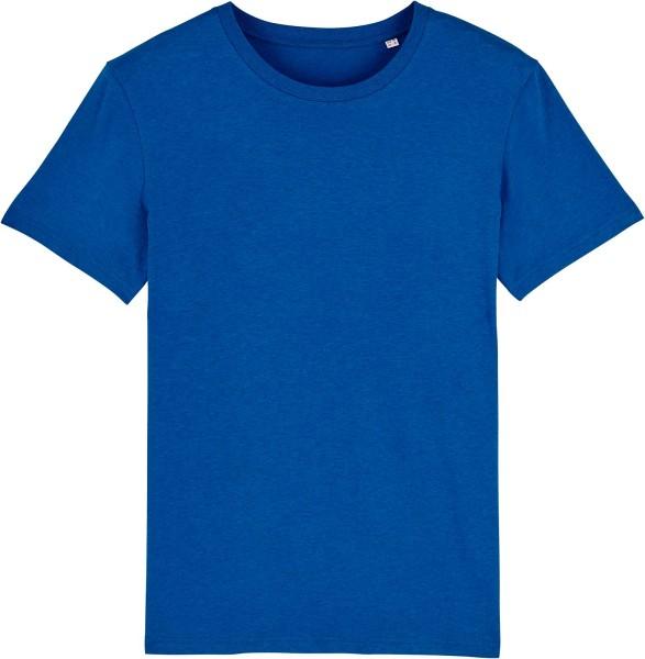T-Shirt aus Bio-Baumwolle - mid heather royal blue