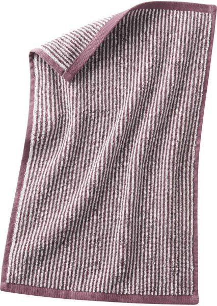 Gäste-Handtuch aus Bio-Baumwolle 30x50 cm - light plum/natural