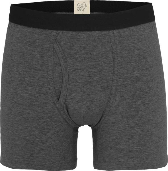 Boxer-Shorts aus Bio-Baumwolle - anthrazit-melange