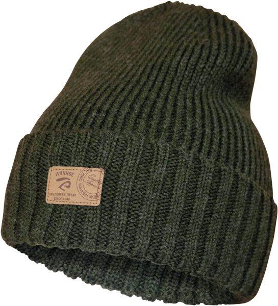 Ipsum Hat - Mütze mit Umschlag aus Wolle - loden green