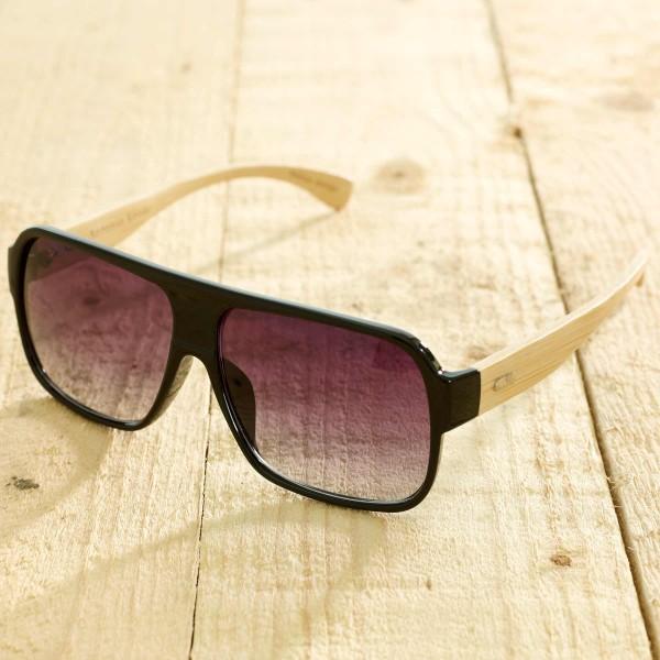 Venice - Sonnenbrille aus recyl. Kunststoff & Bambus black glanz - Bild 1