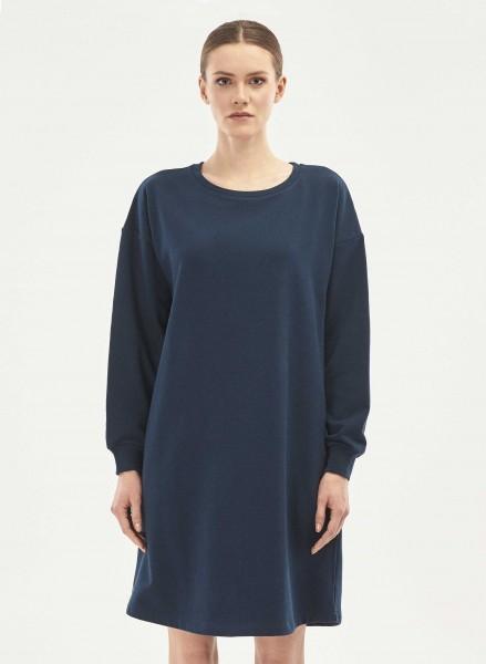 Sweatshirt-Kleid aus Bio-Baumwolle - navy