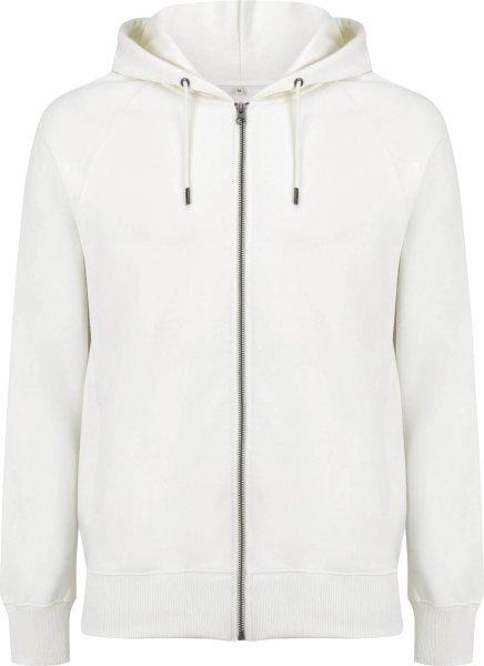 Schwerer Unisex Zip-Up Hoodie aus Biobaumwolle - white mist