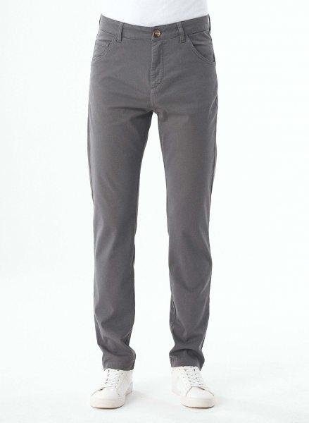 Regular Fit 5-Pocket-Hose aus Bio-Baumwolle - shadow