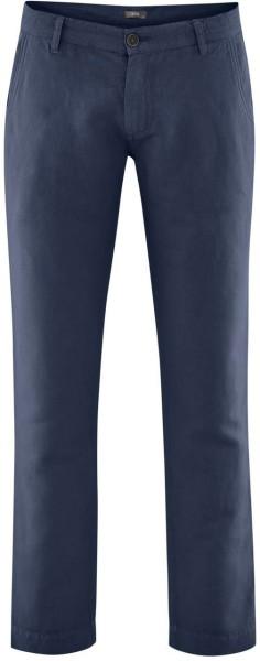 Hose aus Bio-Leinen und Bio-Baumwolle - ink blue