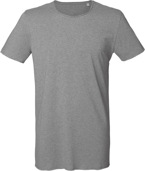 Long T-Shirt aus Bio-Baumwolle - mid heather grey