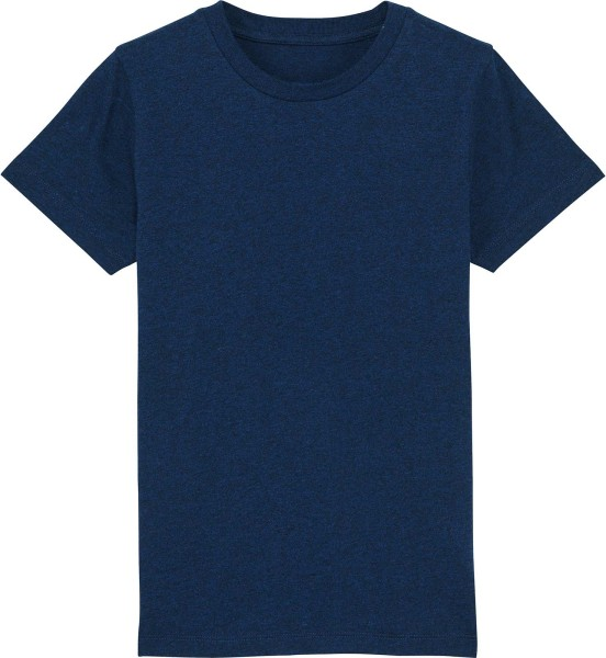 Kinder T-Shirt aus Bio-Baumwolle - black heather blue