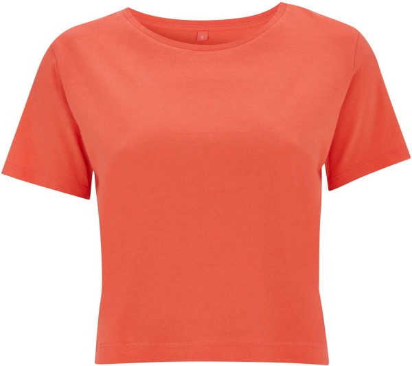 Cropped Jersey T-Shirt - coral