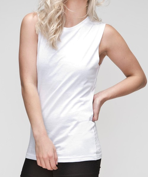 Organic Loose Fit Tank T-Shirt weiss